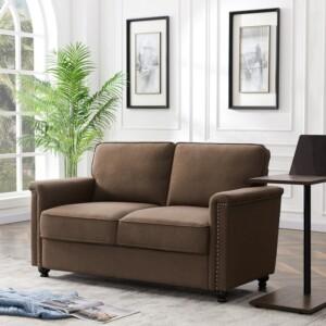 Kursi Sofa 2 dudukan Alvis coklat 1