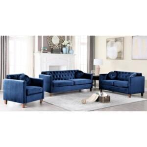 Set Sofa Tamu Avaro biru