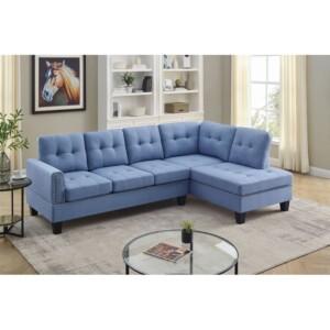 Sofa L Minimalis Tipe Elisa Biru