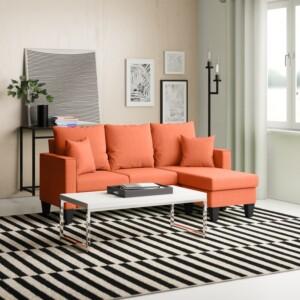 Sofa Leter L Adney Merah 2