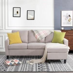 Sofa Tamu L Adiel putih